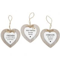 Wooden Hanging Friends Sign. Various Wordings..
